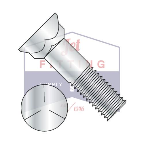 3/4-10X3 1/2  Grade 5 Plow Bolt With Number 3 Head Zinc