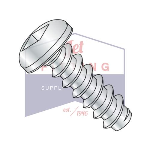 8-18X1/2  Square Pan Self Tapping Screw Type B Fully Threaded Zinc And Bake
