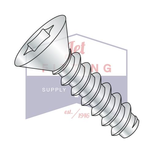 8-18X1/2  Six Lobe Flat Self Tapping Screw Type B Fully Threaded Zinc and Bake