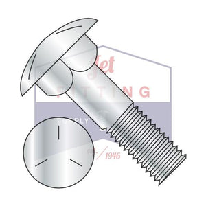 "3/4-10X6  Carriage Bolt Grade 5 Partially Threaded 6"" Thread Under Sized Body Zinc"
