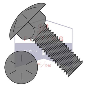 3/4-10X3  Carriage Bolt Grade 8 Fully Threaded Steel Plain