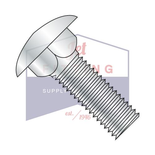 3/4-10X3 1/2 Carriage Bolt Fully Threaded Steel Zinc