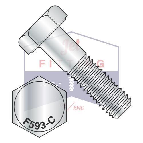 7/8-9X4  Hex Cap Screw Stainless Steel 18-8