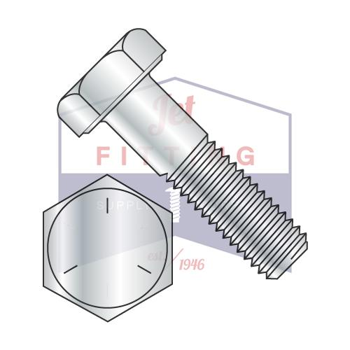 7/8-9X8  Coarse Thread Hex Cap Screw Steel Grade 5 Zinc