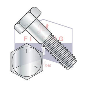 7/8-14X7 1/2  Fine Thread Hex Cap Screw Steel Grade 5 Zinc