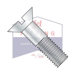 3/4-10X2  Slotted Flat Cap Screw Zinc
