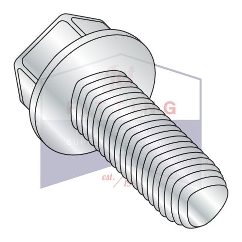 M8-1.25X20 Taptite Style Thread Forming Screws Unslotted Hex Washer Head Steel Zinc Din7500 Quantity: 1,000