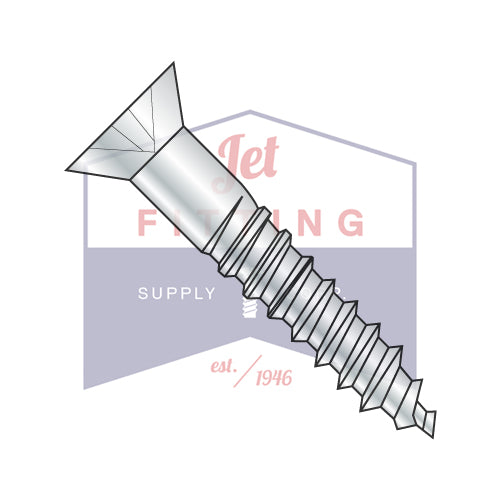 #4-22X3/8  Flat 82 Phillips Full Body Wood Screw Zinc