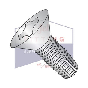 8-32X1/2  Phillips Flat Thread Cutting Screw Type F 4 10 Fully Threaded Stainless Steel