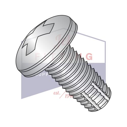 6-32X5/8  Phillips Pan Thread Cutting Screw Type F Fully Threaded 18-8 Stainless Steel
