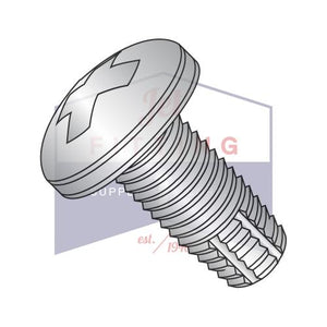 6-32X1/2  Phillips Pan Thread Cutting Screw Type F Fully Threaded 18-8 Stainless Steel