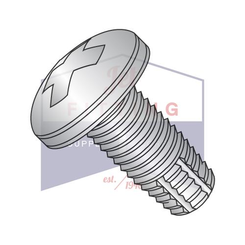 2-56X3/16  Phillips Pan Thread Cutting Screw Type F Fully Threaded 410 Stainless Steel