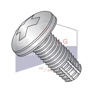 8-32X1  Phillips Pan Thread Cutting Screw Type F Fully Threaded 410 Stainless Steel