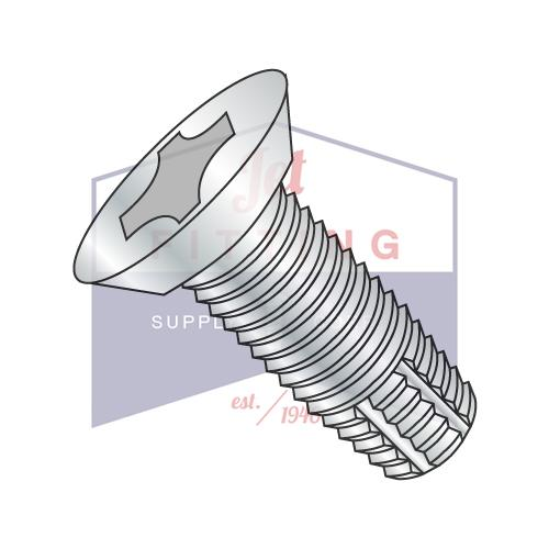 2-56X1/8  Phillips Flat Undercut Thread Cutting Screw Type F Fully Threaded Zinc