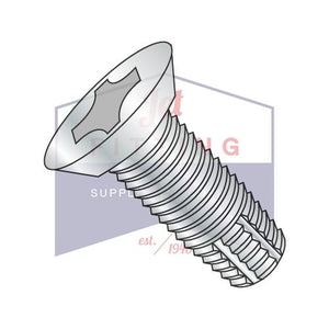 8-32X3/8  Phillips Flat Undercut Thread Cutting Screw Type F Fully Threaded Zinc
