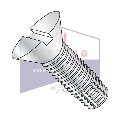 6-32X3/8  Slotted Flat Thread Cutting Screw Type F Fully Threaded Zinc