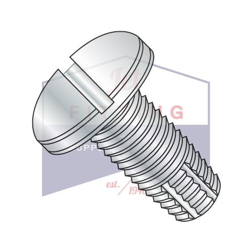 6-32X3/4  Slotted Pan Thread Cutting Screw Type F Fully Threaded Zinc