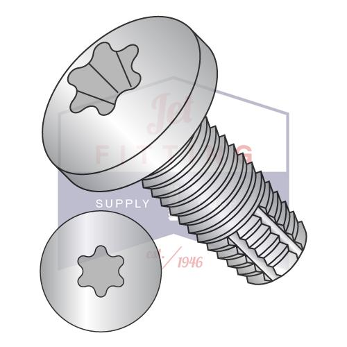 8-32X3/8  Six Lobe Pan Thread Cutting Screw Type F Fully Threaded 18 8 Stainless Steel