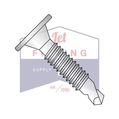 10-24x1-1/4  Phil Wafer Head #3 Point Self Drill Scr Mach Scr Thd Fully Threaded Stainless Steel 410 Bulk: 1500