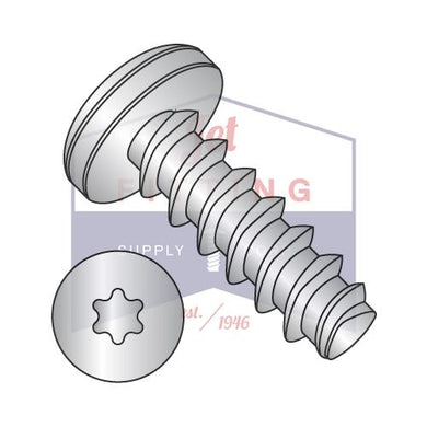 2-28X3/8  6 Lobe Pan Plastite Alternative 48-2 Fully Threaded 18-8 S/S Passivated and Wax