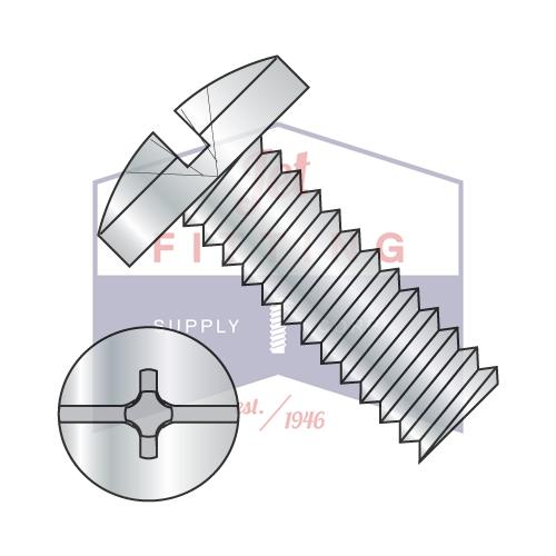 6-32X3/16  Combination Slot/Phil Binding Undercut Machine Screw Full Threaded Zinc