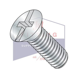 8-32X3/8  Combination (Phil/Slot) Flat Head Machine Screw Fully Threaded Zinc