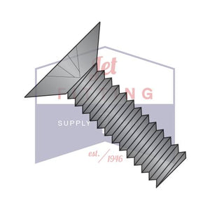 10-32X5/8  Phillips Flat 100 Degree Machine Screw Fully Threaded 18 8 Stainless Steel Black