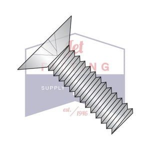 0-80X1/2  Phillips Flat 100 Degree Machine Screw Fully Threaded 18-8 Stainless Steel