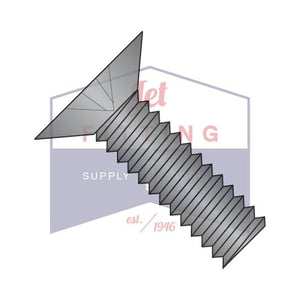8-32X1/2  Phillips Flat 100 Degree Machine Screw Fully Threaded Zinc Black