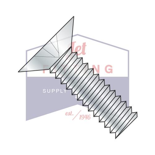 8-32X3/4  Phillips Flat 100 Degree Machine Screw Fully Threaded Zinc