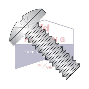 1/4-20X1/2  Phillips Binding Undercut Machine Screw Fully Threaded 18-8 Stainless Steel