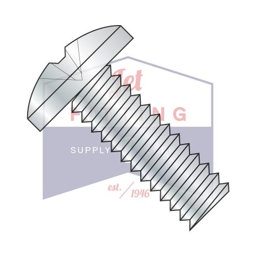 1/4-20X1/2  Phillips Binding Undercut Machine Screw Fully Threaded Zinc