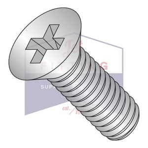 1/4-20X3/4  Phillips Flat Machine Screw Fully Threaded 316 Stainless Steel