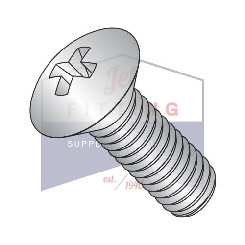 10-24X2  Phillips Oval Machine Screw Fully Threaded 18 8 Stainless Steel