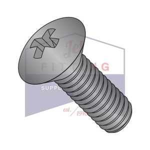 8-32X1 1/4  Phillips Oval Head Machine Screw Fully Threaded Black Oxide
