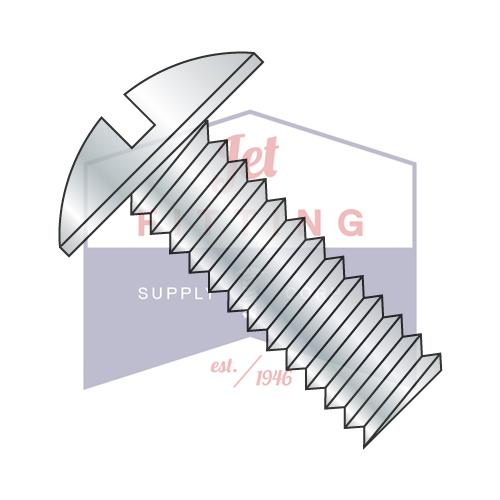 10-32X1 1/4  Slotted Truss Machine Screw Fully Threaded Zinc