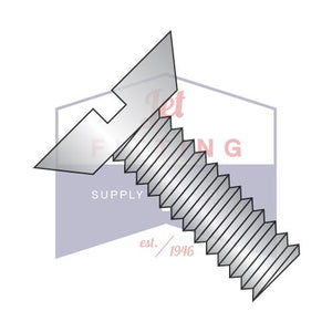 6-32X1/4  Slotted Flat Undercut Machine Screw Fully Threaded 18 8 Stainless Steel