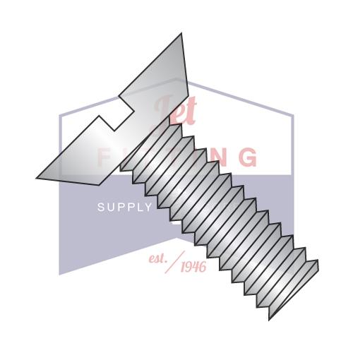12-24X1/2  Slotted Flat Undercut Machine Screw Fully Threaded 18 8 Stainless Steel