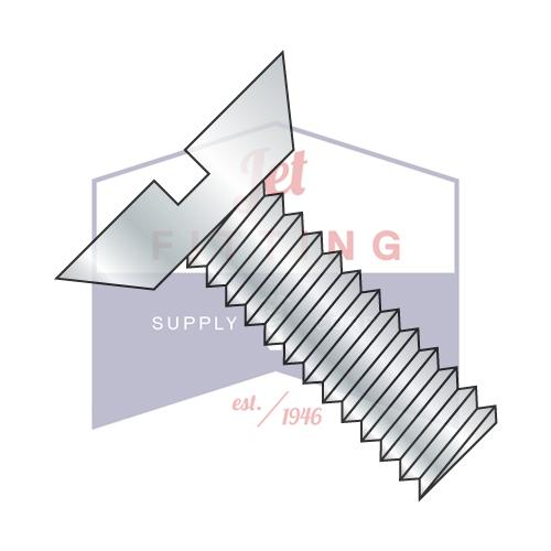 8-32X3/8  Slotted Flat Undercut Machine Screw Fully Threaded Zinc