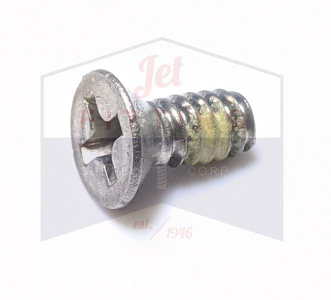 6-32X1/2 Phillips Flat82 Machine Screw Fully Threaded Stainless Steel 18-8 with Nylon Patch
