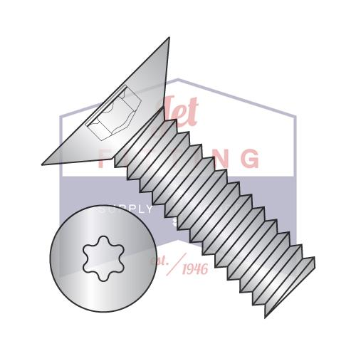 4-40X3/16  6 Lobe Flat 100 Degree Machine Screw Fully Threaded 18 8 Stainless Steel