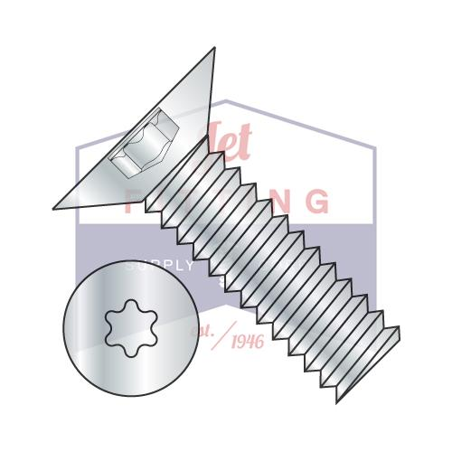6-32X5/16  6 Lobe Flat 100 Degree Machine Screw Fully Threaded Zinc