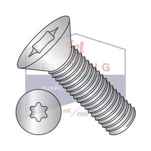 8-32X3/8  6 Lobe Flat Machine Screw Fully Threaded 18 8 Stainless Steel