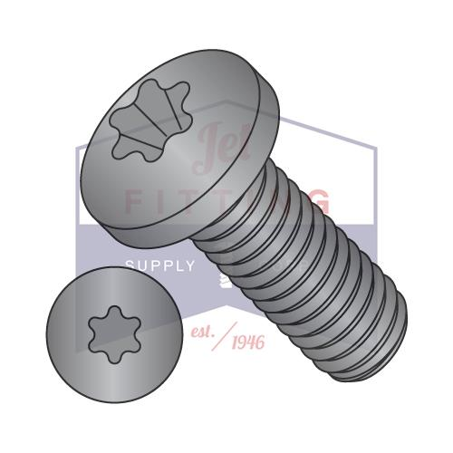 1/4-20X5/8  6 Lobe Pan Machine Screw Fully Threaded Black Oxide
