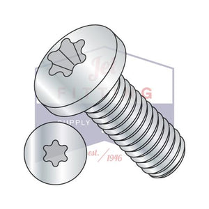 2-56X3/8  6 Lobe Pan Machine Screw Fully Threaded Zinc