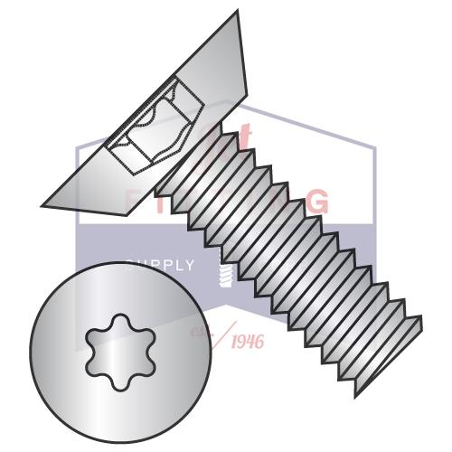 10-32X1/4  6 Lobe Flat Undercut Machine Screw Fully Threaded 18 8 Stainless Steel