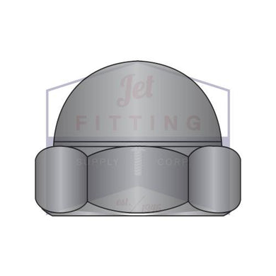 10-32  Two Piece Low Crown Cap Nut Black Zinc