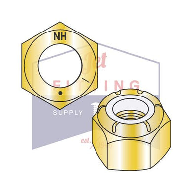 7/8-14 N1610  Nylon Insert Hex Locknut NE Light Hex Standard Height Grade 8 Zinc Yellow
