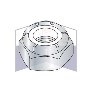 7/8-14  NTE  Thin Pattern Nylon Insert Hex Lock Nut Zinc