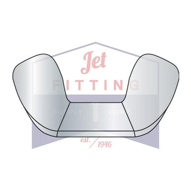 10-24 Forged Wing Nut Steel Zinc Plated